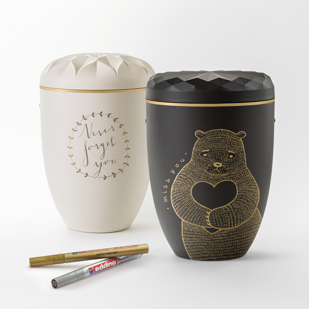 samosa design urnen edding glanzlack stift. Black Bedroom Furniture Sets. Home Design Ideas