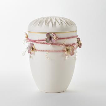 Wickelschmuck rosé mit Perlen
